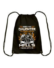 HURT MY DAUGHTERS - I'M COMING FOR YOU AND HELL'S  Drawstring Bag thumbnail