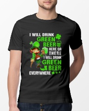 I Will Drink Green Beer Classic T-Shirt lifestyle-mens-crewneck-front-13
