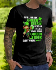 I Will Drink Green Beer Classic T-Shirt lifestyle-mens-crewneck-front-7