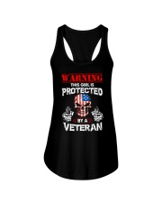 This Girl Is Protected By A Veteran Ladies Flowy Tank thumbnail