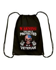 This Girl Is Protected By A Veteran Drawstring Bag thumbnail