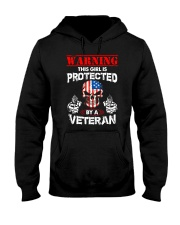 This Girl Is Protected By A Veteran Hooded Sweatshirt thumbnail