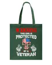This Girl Is Protected By A Veteran Tote Bag thumbnail