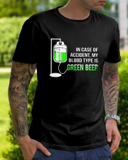 My Blood Type Is Green Beer Classic T-Shirt lifestyle-mens-crewneck-front-7