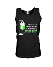 My Blood Type Is Green Beer Unisex Tank thumbnail