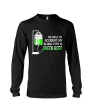 My Blood Type Is Green Beer Long Sleeve Tee thumbnail