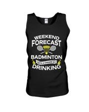 Weekend Forecast Badminton Unisex Tank thumbnail