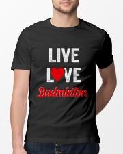 Live Love Badminton Classic T-Shirt lifestyle-mens-crewneck-front-13