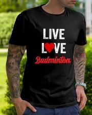 Live Love Badminton Classic T-Shirt lifestyle-mens-crewneck-front-7