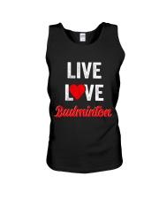 Live Love Badminton Unisex Tank thumbnail