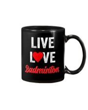 Live Love Badminton Mug thumbnail