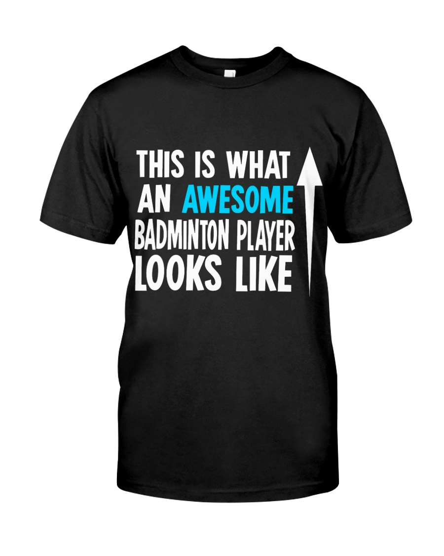Awesome Badminton Player Classic T-Shirt