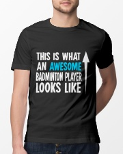 Awesome Badminton Player Classic T-Shirt lifestyle-mens-crewneck-front-13