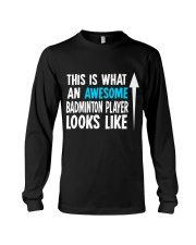 Awesome Badminton Player Long Sleeve Tee thumbnail