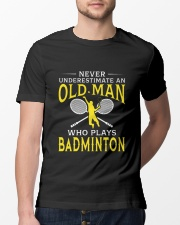 Old Man Who Plays Badminton Classic T-Shirt lifestyle-mens-crewneck-front-13