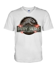 Daddy Saurus V-Neck T-Shirt thumbnail
