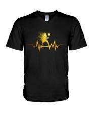 Badminton Heartbeat V-Neck T-Shirt thumbnail