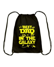 Best Dad In The Galaxy Drawstring Bag thumbnail