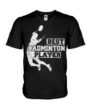 Best Badminton Player V-Neck T-Shirt thumbnail