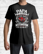 Papa One Who Breaks All The Rules and love every Classic T-Shirt lifestyle-mens-crewneck-front-1
