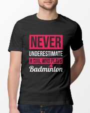 A Girl Who Plays Badminton Classic T-Shirt lifestyle-mens-crewneck-front-13