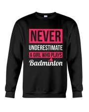 A Girl Who Plays Badminton Crewneck Sweatshirt thumbnail