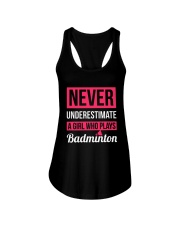 A Girl Who Plays Badminton Ladies Flowy Tank thumbnail