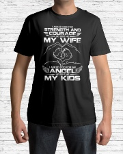 My wife and my kids  Classic T-Shirt lifestyle-mens-crewneck-front-1