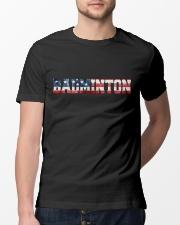 Badminton American Flag Classic T-Shirt lifestyle-mens-crewneck-front-13