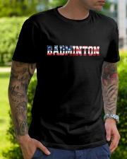 Badminton American Flag Classic T-Shirt lifestyle-mens-crewneck-front-7
