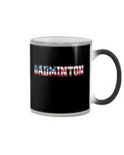 Badminton American Flag Color Changing Mug thumbnail
