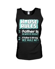 House Rules Father Unisex Tank thumbnail