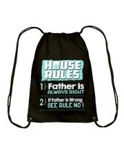 House Rules Father Drawstring Bag thumbnail