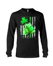 St-Patrick Flag - Beer Splash Long Sleeve Tee thumbnail