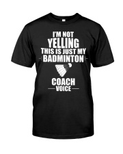 This Is Just My Badminton Coach Voice Premium Fit Mens Tee thumbnail
