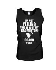 This Is Just My Badminton Coach Voice Unisex Tank thumbnail