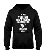 This Is Just My Badminton Coach Voice Hooded Sweatshirt thumbnail