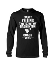 This Is Just My Badminton Coach Voice Long Sleeve Tee thumbnail