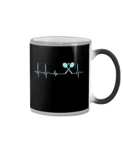 Badminton Heartbeat V2 Color Changing Mug thumbnail
