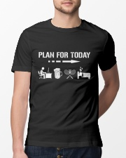 Plan For Today - Badminton V1 Classic T-Shirt lifestyle-mens-crewneck-front-13