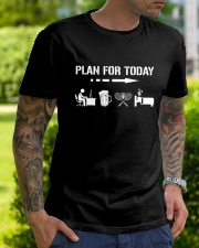 Plan For Today - Badminton V1 Classic T-Shirt lifestyle-mens-crewneck-front-7