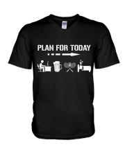 Plan For Today - Badminton V1 V-Neck T-Shirt thumbnail