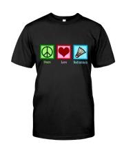 Peace Love Badminton Classic T-Shirt front