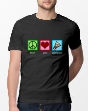 Peace Love Badminton Classic T-Shirt lifestyle-mens-crewneck-front-13