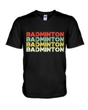 Badminton Unlimited V4 V-Neck T-Shirt thumbnail