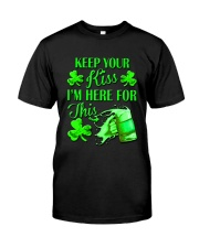 St Patrick Flag - I'm Here For This Beer Classic T-Shirt front
