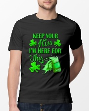 St Patrick Flag - I'm Here For This Beer Classic T-Shirt lifestyle-mens-crewneck-front-13
