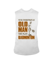 Old Man Who Plays Badminton Sleeveless Tee thumbnail