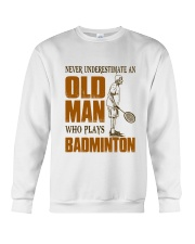 Old Man Who Plays Badminton Crewneck Sweatshirt thumbnail