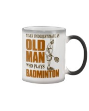Old Man Who Plays Badminton Color Changing Mug thumbnail